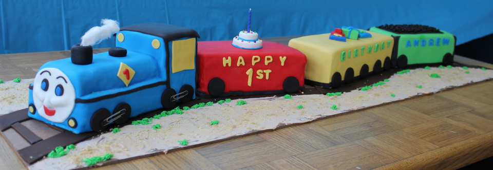 Thomas the Tank Engine Kid's Birthday Cake